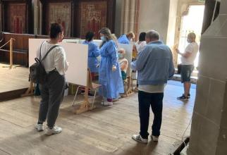 Vaccinare în biserică  FOTO: Facebook DSP Brașov