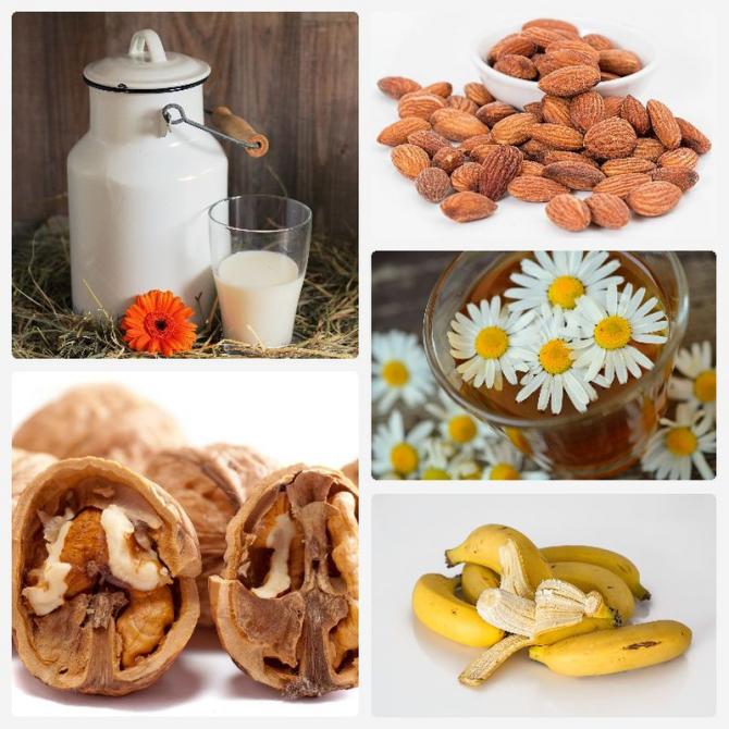 Alimente care  te ajută să ai un somn mai bun. Foto: Colaj Pixabay