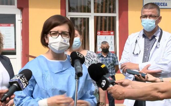 Ministrul Sănătății, Ioana Mihăilă, în județul Vaslui.Foto: Print screen