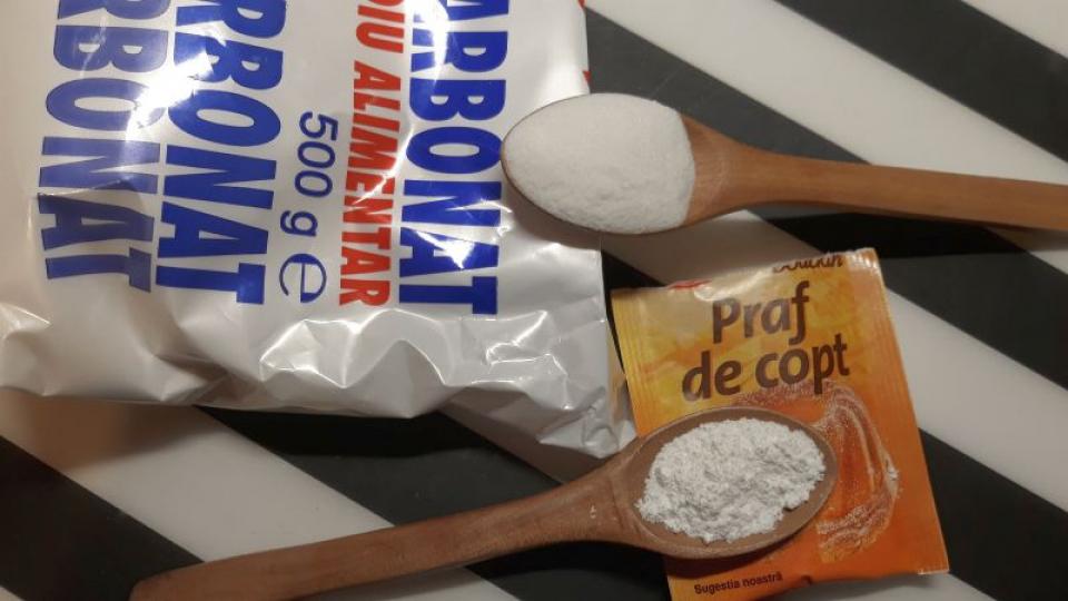 Bicarbonatul de sodiu și praful de copt. Foto: DC Medical