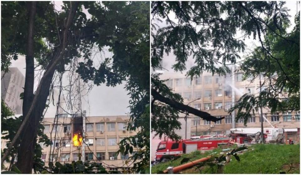 Incendiu Spitalul Clinic de Urgență pentru Copii Iași   Sursa foto: Antena 3
