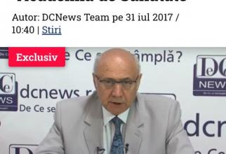 Prof dr Irinel Popescu, la prima emisiune