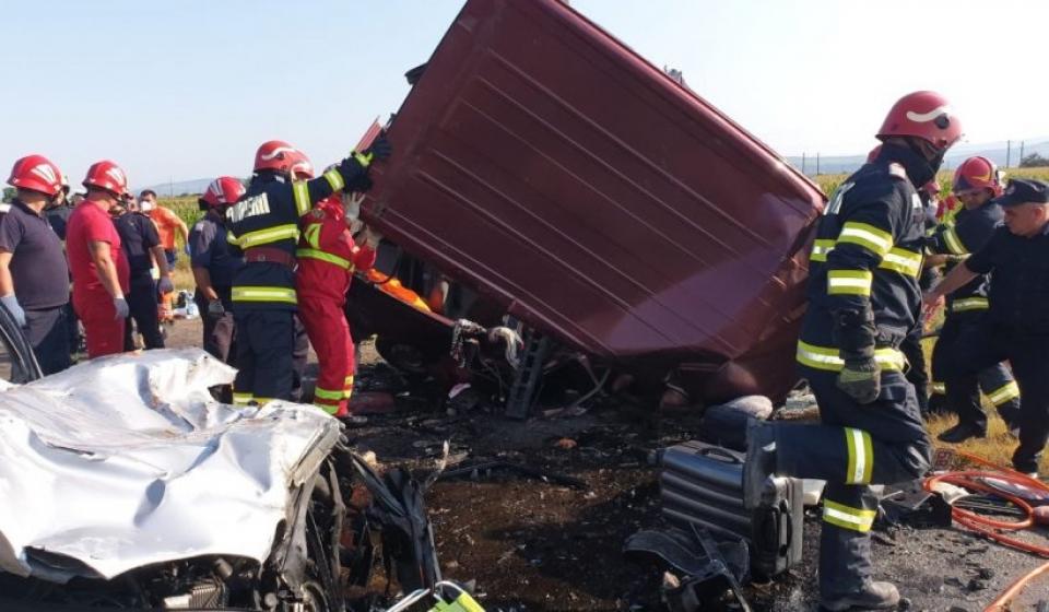 Accident grav în județul Bacău    Sursa foto: ISU Bacău