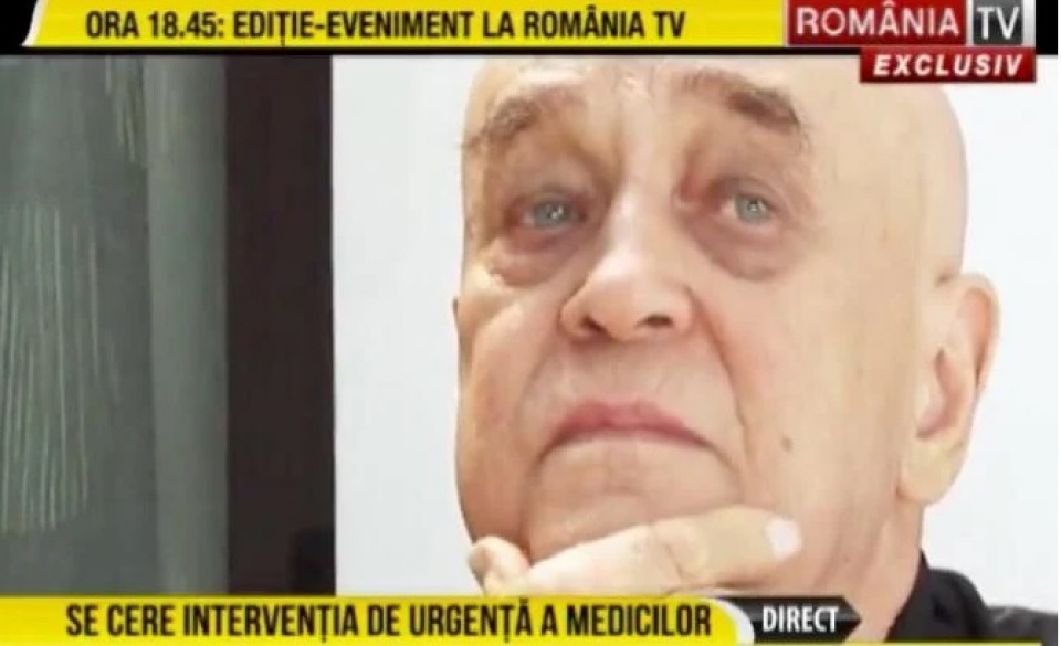 Benone Sinulesc este în stare gravă   Foto: captură România TV