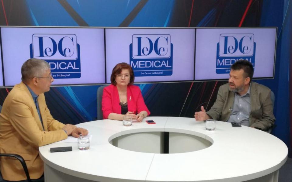 Val Vâlcu alături de prof dr Cătălina Poiană și prof dr Bogdan Popescu. Foto: DC Medical