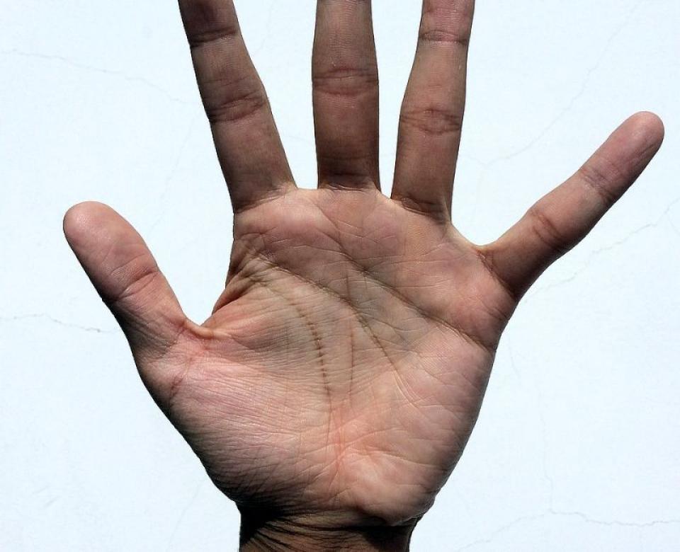 Litera M formată în palmă este semnul că destinul ți-a pregătit ceva minunat. Foto: Pixabay