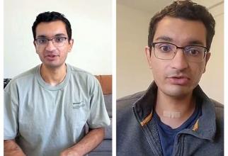 Urmăritorii lui Aaroh Mankad au observat că are o umflătură sub mărul lui Adam și i-au atras atenția. Tânărul s-a operat de cancer de tiroidă. Foto: Print screen TikTok