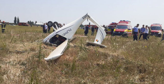 Avionul prăbușit în Chitila. Foto: ISUBIF
