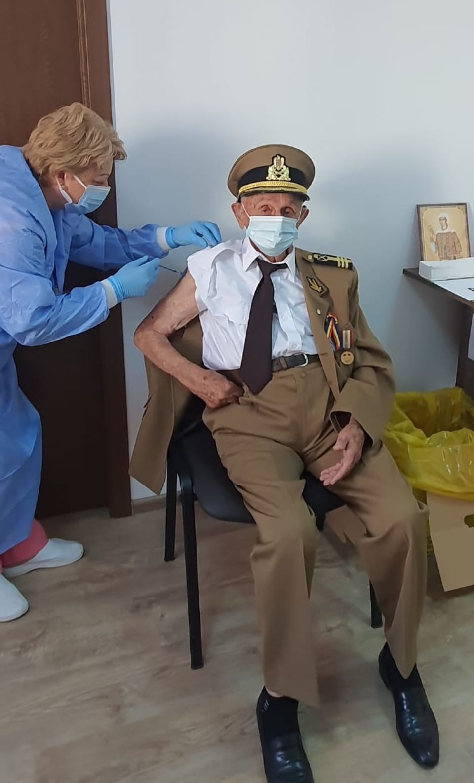 Veteranul Ion Procopie  FOTO: RO Vaccinare