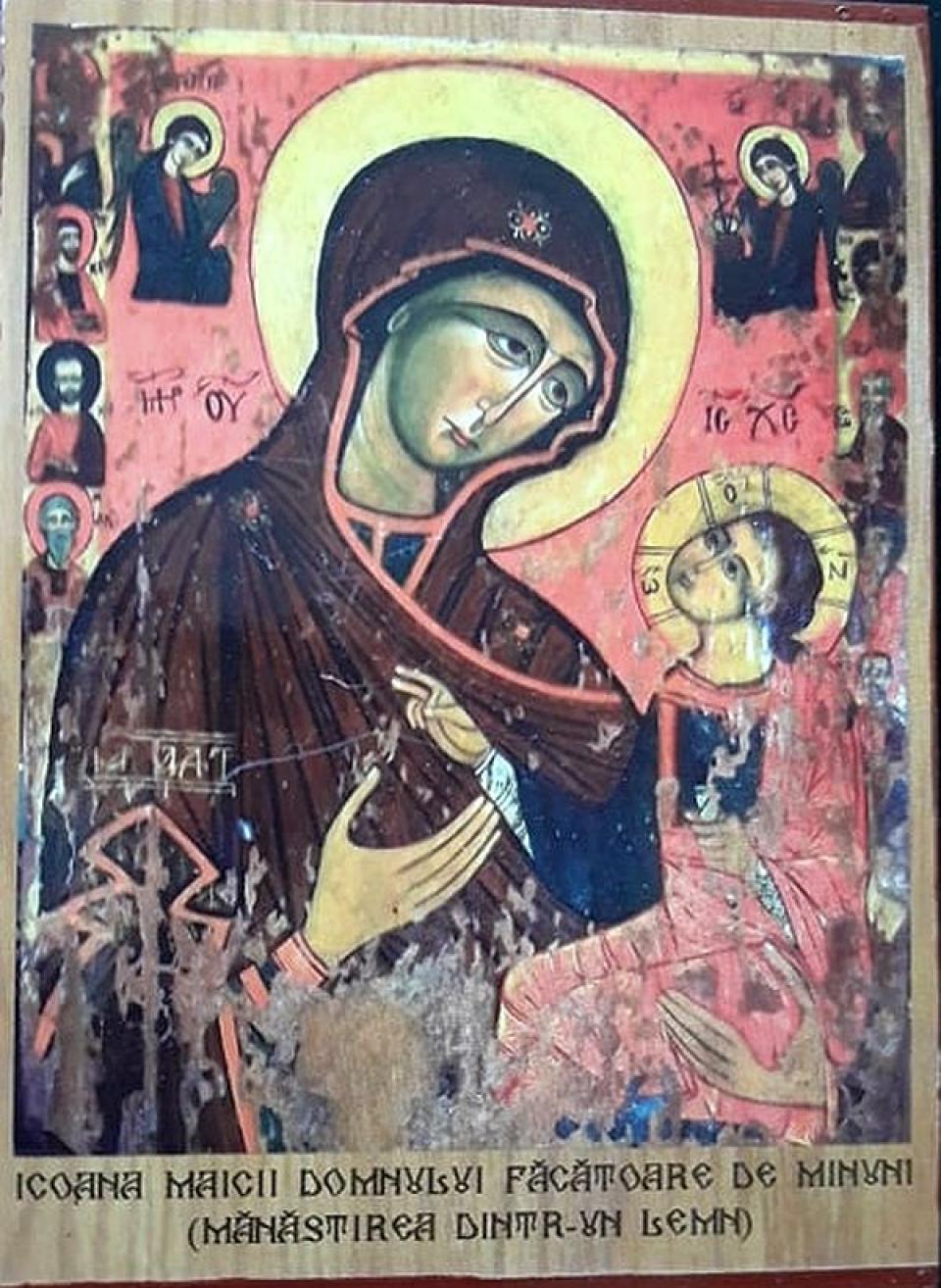 Icoana Maicii Domnului Făcătoare de Minuni de la Mănăstirea dintr-un Lemn.  Foto: DC Medical