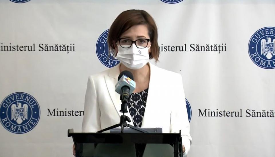 Ministrul Sănătății, Ioana Mihăilă. Foto: Print screen conferință