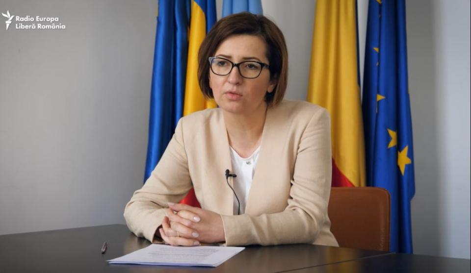 Ioana Mihăilă, despre tichetele de masă care vor stimula vaccinarea contra COVID-19. Foto: Print screen Europa Liberă România