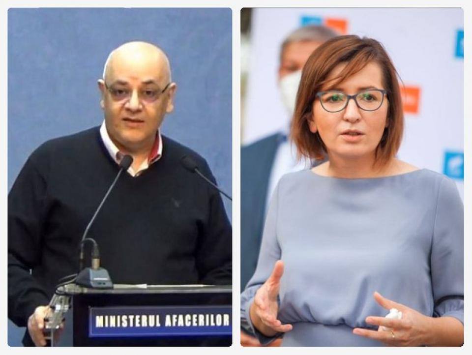 Raed Arafat și Ioana Mihăilă