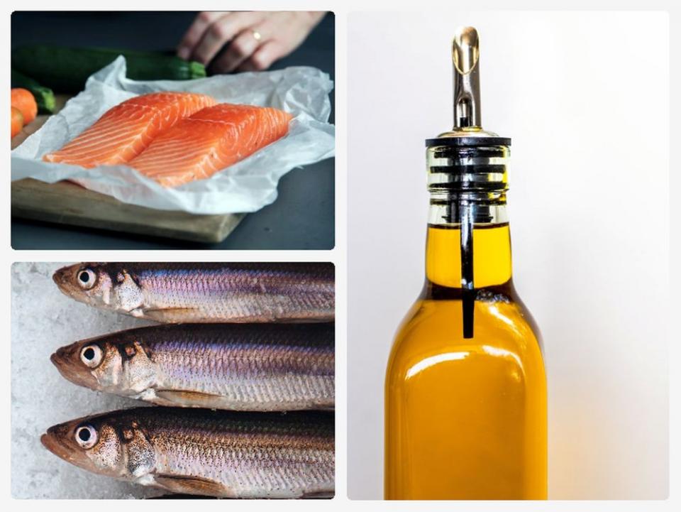 Uleiul de pește, beneficii pentru sănătate. Foto colaj: Unsplash