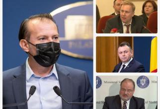 Florin Cîți și cei trei consilieri onorifici care vin din Sănătate: Victor Costache (dreapta sus), Nelu Tătaru (centru) și Horațiu  Moldovan (dreapta jos)