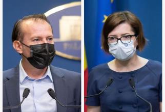 PȘremierul Florin Cîțu și ministrul Ioana Mihăilă se ceartă pe banii de care e nevoie în Sănătate. Fotografii colag: Gov.Ro