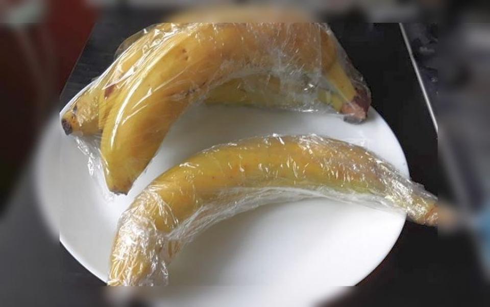 Trucul simplu care ține bananele proaspete. Foto: DC Medical