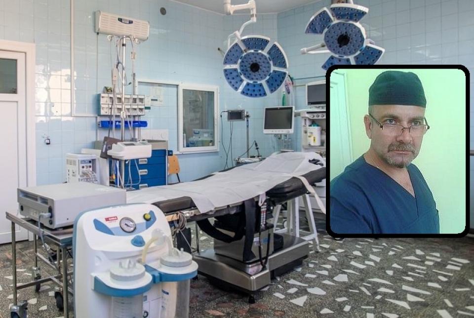 Chirurgul Ovidiu Burlacu a decedat. Foto: Facebook / site-ul spitalului