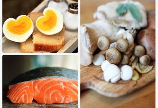 Alimente din care obții cele două tipuri de vitamina D. Foto colaj: Pixabay