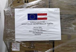 România a primit medicamente din partea Austriei. Foto: DSU