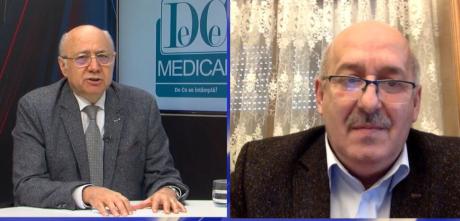 Prof dr Irinel Popescu și prof dr Ciprian Duță. Foto: DC Medical